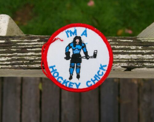 "I'm a Hockey Chick 3"" Embroidered Patch"