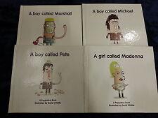 4 POPJUSTICE BOOKS by DAVID WHITTLE ** UK POST £3.25 ** HARDBACKS