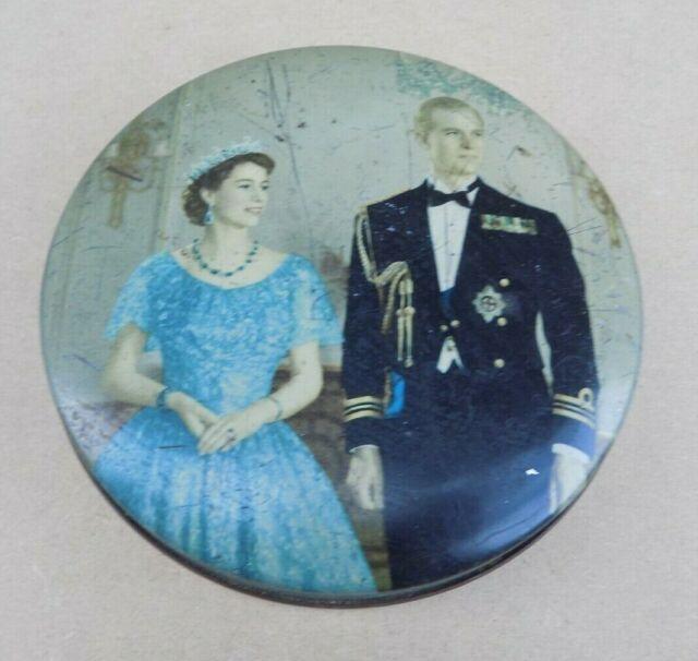 Vintage HUNTLEY & PALMER Queen Elizabeth II Coronation Biscuit Tin (Empty)