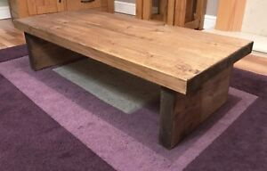 Length - 80cm Royal Oak Collection Rustic Side Console Table Peak Heritage Furniture