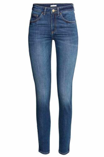 Haut Femme Ex-Zara Pantalon Spandex stretch Noir Foncé Laver Denim Femme Jeans 8-16