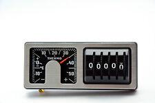 Retro Kilometerzähler & Thermometer 2 in 1 silber 1975 KM Zähler Art.A7261