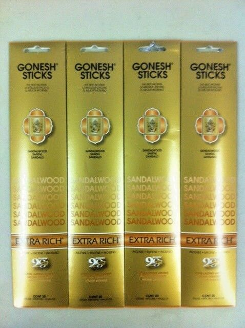 Pack of 3 Frankincense Gonesh Incense Extra Rich 20 Sticks In 1 Pack
