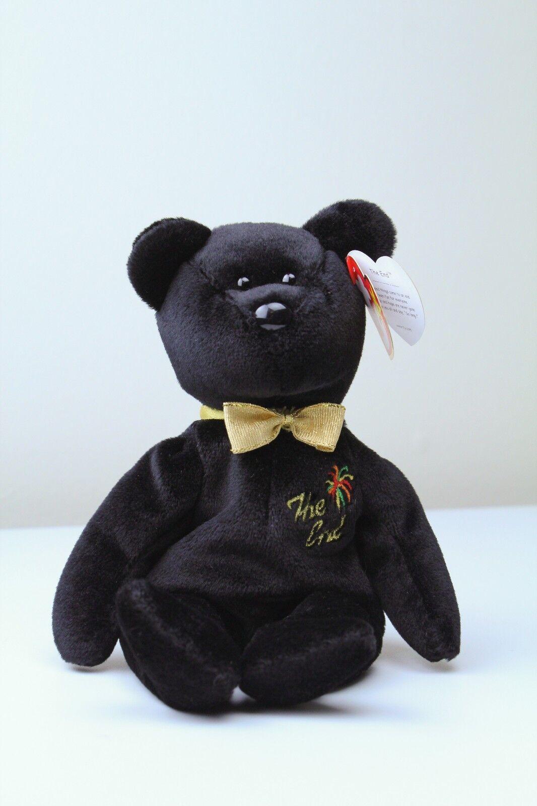 Beanie Babies  The End  Bear With Flat Tush Tag & Errors - Rare