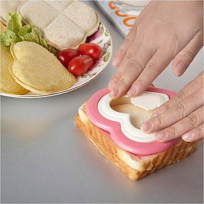 DIY Heart Shape Sandwich Maker Cake Cookies Lunch Bread Mould Food Cutter Sales