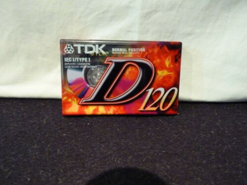 TDK D120 NORMAL POSITION TYPE I BLANK AUDIO CASSETTE TAPE
