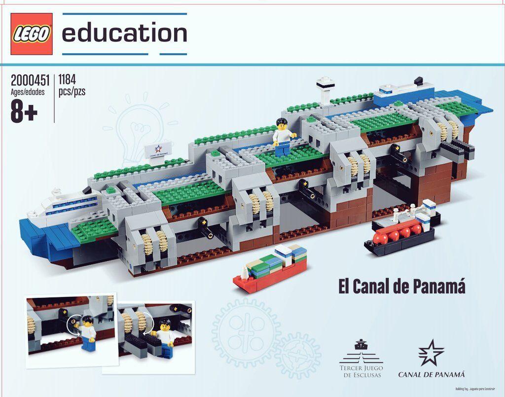 Lego Educación-RARE-conjunto de Canal de Panamá - 2000451-NUEVO SELLADO (CAJA desgaste)
