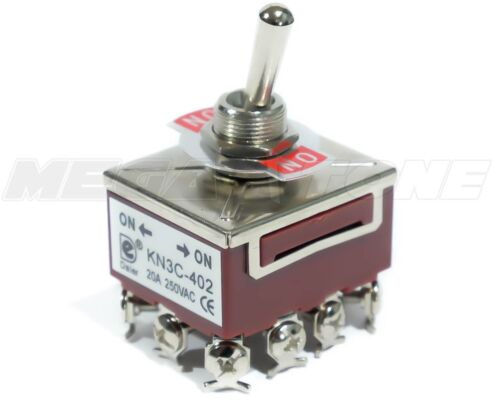 Heavy Duty 20A//125V 4PDT ON-ON Toggle Switch w//Waterproof Boot.. USA SELLER!!!