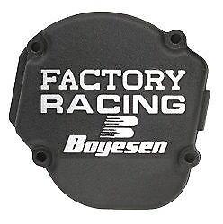 Factory Ignition Cover Boyesen Black SC12B For Kawasaki KX250 1990-2004