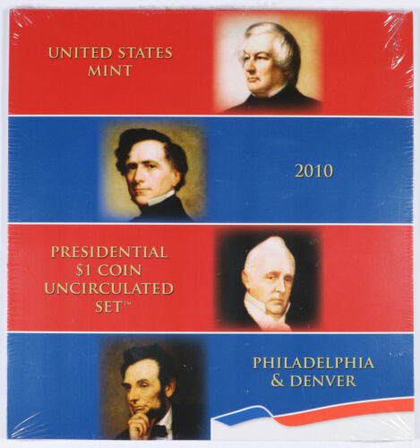2010-P//D United States Mint Presidential $1 Coin Uncirculated Set BU Unc