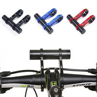 Mtb Bicycle Lights Handlebar Extender Carbon Fiber Dual Extension Mount Holder