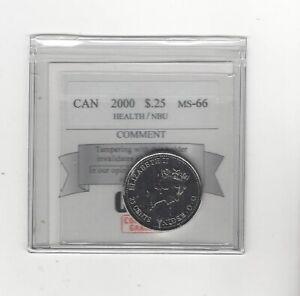 2000-Health-Coin-Mart-Graded-Canadian-Twenty-Five-Cent-MS-66-NBU