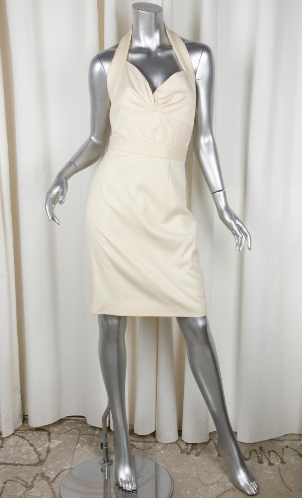 Alexander Mcqueen Mcqueen Mcqueen Donna Cotone senza Maniche Canotta Vestito con Fodero 40 4 508549
