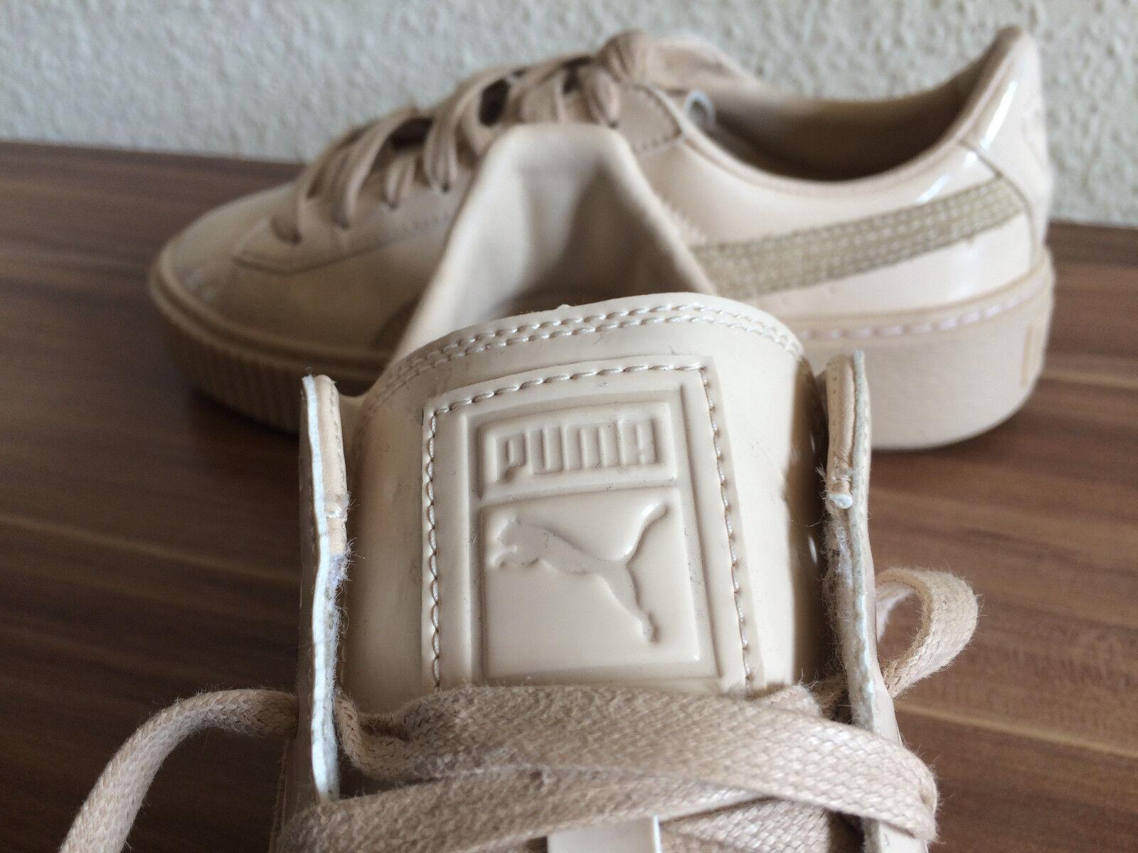 Super Puma Basket Platform Patent Sneaker Schuhe Top Sportschuhe Lack Gr. 37 Top Schuhe a2240a