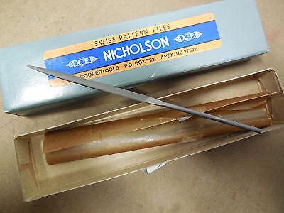 "XX0266 NICHOLSON  6-1//4/"" CROSSING ROUND HAND NEEDLE FILES 4 CUT 2 PCS"