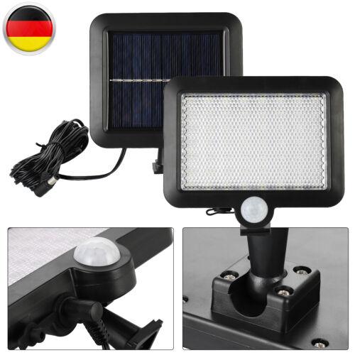 56 LED Solarleuchte Bewegungsmelder Außen  Wandleuchte Gartenlampe IP65 EU