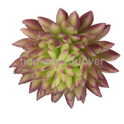 Lifelike Artificial Succulent Real Touch Echeveria Plant Home Decor Purple