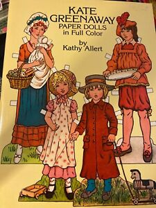 Vintage-1981-KATE-GREENAWAY-PAPER-DOLLS-in-Full-Color-Kathy-Allert