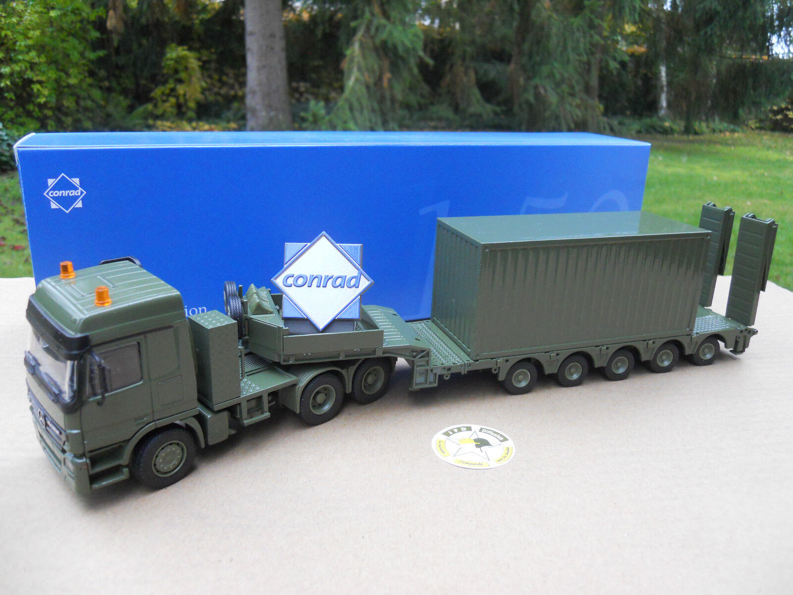 CONRAD MILITARY MB 6X4 + MID 5 AXLES & CONTAINER + LOGO CONRAD