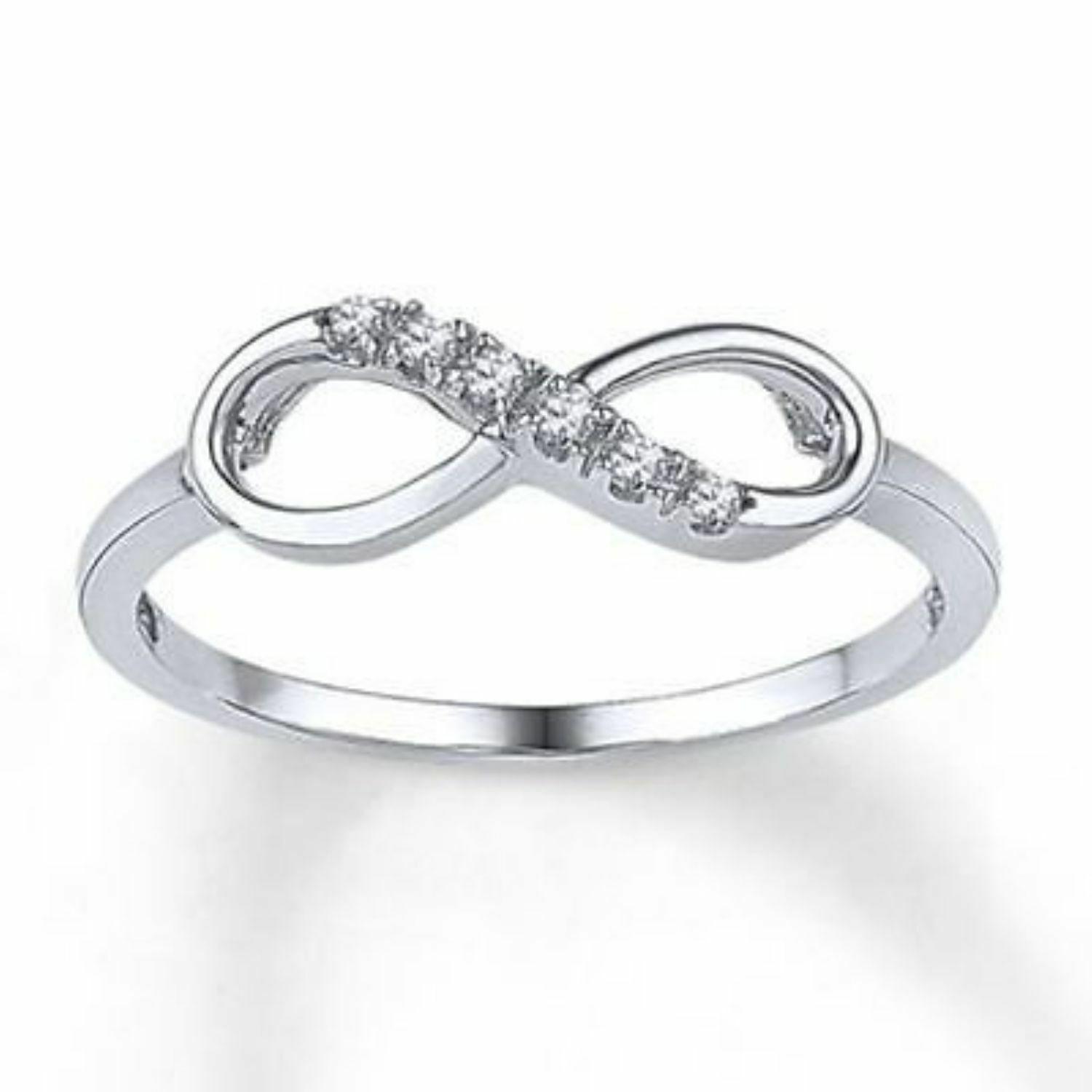 0.30 Carats F VS1 Round Brilliant Cut Natural Diamonds Infinity Ring In 14K gold