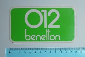 ADESIVO-VINTAGE-STICKER-AUTOCOLLANT-012-BENETTON-ANNI-039-80-13x7-cm