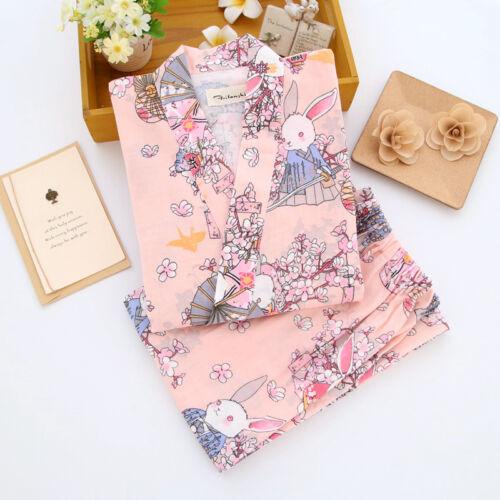 Chinese Japanese Wishing Rabbits Ladies Kimono Pyjamas Pajamas Set ladpj116117