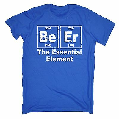 Beer Essential Element T Shirt slogan tee gift pub drinking science student stag