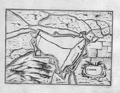 1630 - Corbie Somme Carte Gravure Estampe France   eBay