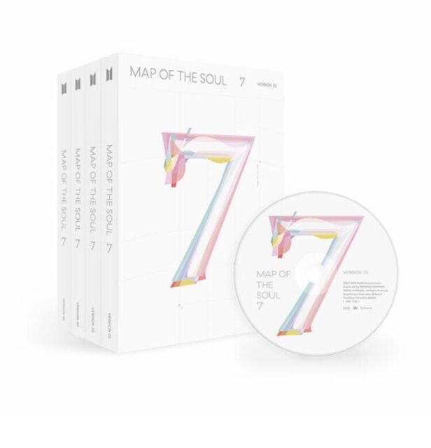 BTS - MAP OF THE SOUL : 7 Album CD + PhotoBook+ Sticker + Gift [NO Photocard]