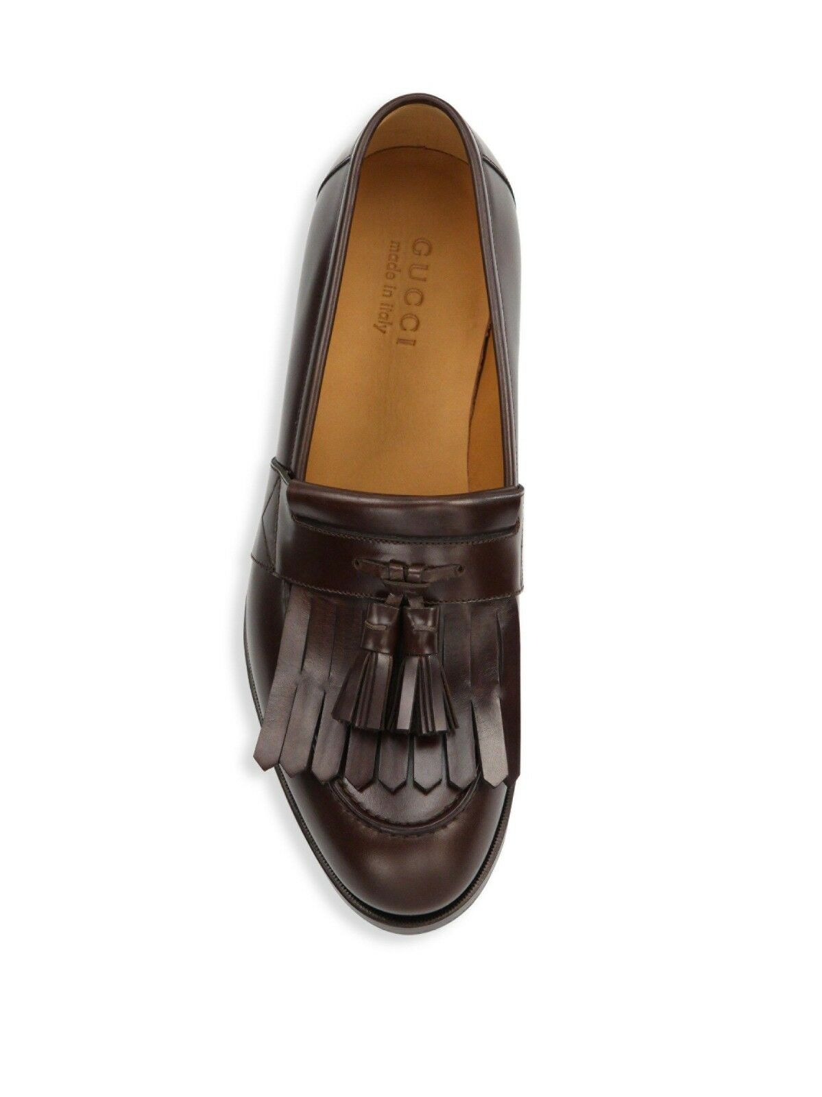 5bf328fef 100 Auth Men Gucci Queercore Brown Leather Tassel Drivers/loafers UK ...