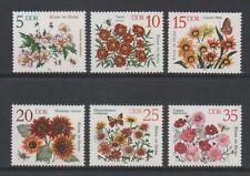 EAST GERMANY 1982 AUTUMN FLOWERS FULL SET *MINT NEVER HINGED*
