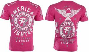 American-Fighter-Short-Sleeve-T-Shirt-Mens-MADISON-Pink-S-3XL-NWT