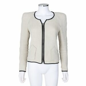 Linen Leather Boucle Size Beige And Light Jacket 2 Isabel Marant aw1cInB