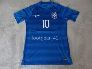 hot sales 7e4ab 5bb90 La foto se está cargando Nike -Brasil-Authentic-Neymar-Jr-Futbol-Jersey-Camisa-