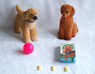 Soleggiato Mattel Barbie Pet Lovin' Puppy Twins Afghans Dogs Chiots Chiens Elegante Nell'Odore