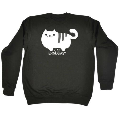 Funny Kids Childrens Sweatshirt Jumper Cat Enthusiast