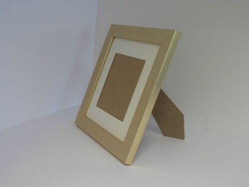 Gold 5x5 Square Picture Photo Frame Mount 3x3 hang Stand