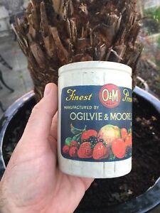 Ogilvie & Moore Ltd Cork Ireland Stoneware Preserve Pot with Irish Label