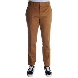 Dickies-Slim-Fit-Work-Pant-Pantalone-Uomo-WE872-BD-Brown-Duck