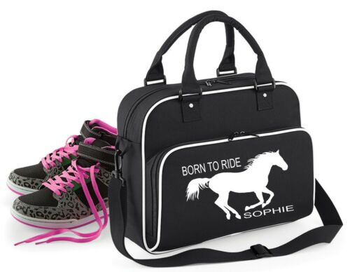 Personalised Born to Ride~ Pony Horse Riding Equestrian Grooming Bag School Bag