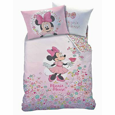 Copripiumino Frozen Cotone.Disney Minnie Mouse Bloom Single Duvet Cover Pillowcase Set 2