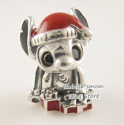 Disney STITCH CHRISTMAS Authentic PANDORA Red Enamel Charm 798452C01 NEW w  POUCH | eBay