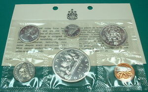 CANADA-1965-PROOF-LIKE-SET-SILVER-type-I-6-COINS