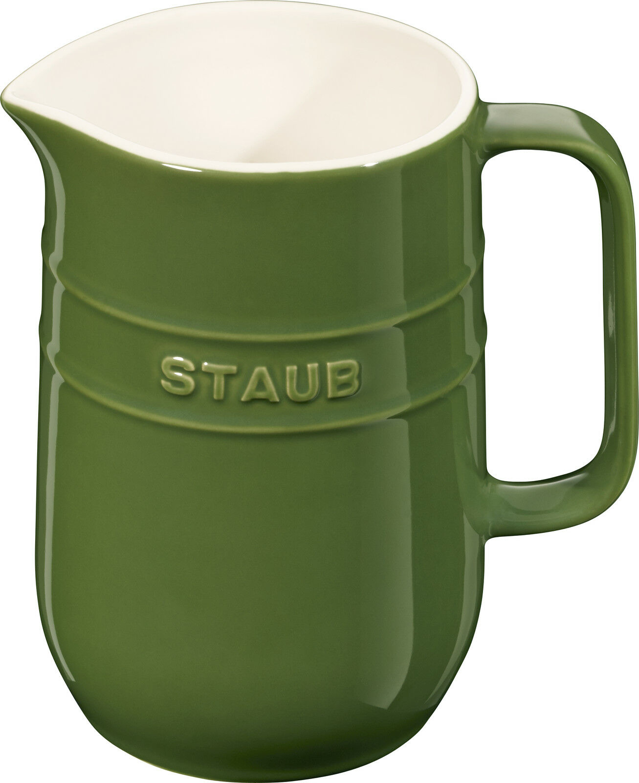 STAUB céramique cruche carafe Rond Basilic Vert 1L lave-vaisselle