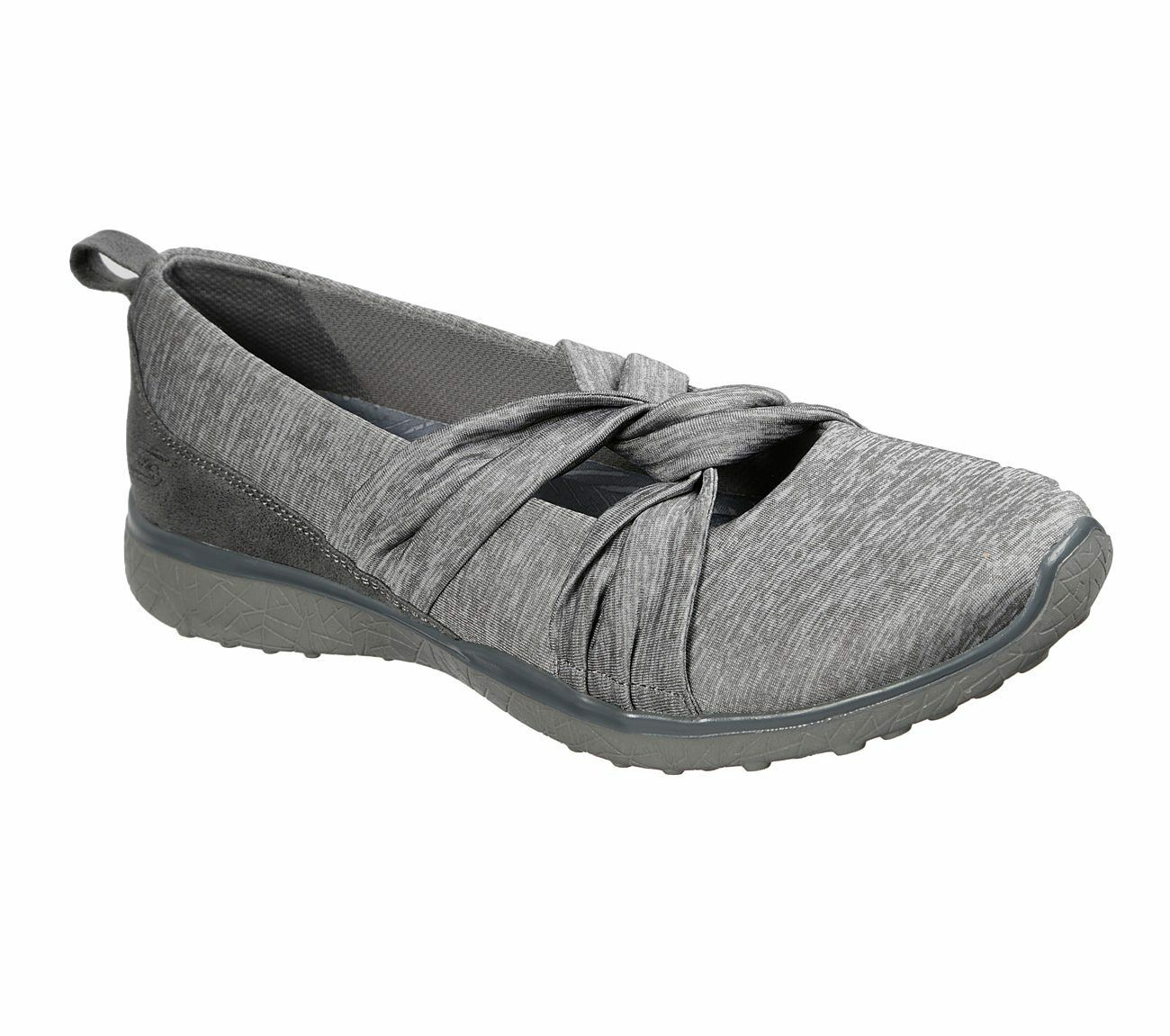 NEU SKECHERS Damen Sneakers Turnschuhe Mary Jane MICROBURST KNOT CONCERNED Grau