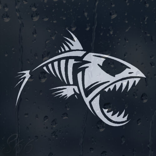 Funny Fish Grin Car Decal Vinyl Sticker For Window Bumper Panel