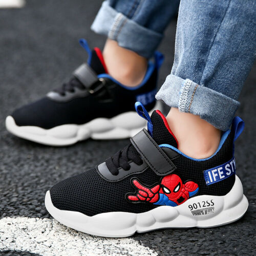Kids Boy Girl Sports Running Shoes Spider-Man Trainer Walking Shoes Comfortable