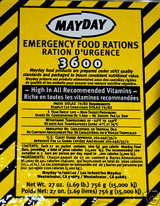 Emergency food ration bar 3600 cal survival disaster camp for Food bar emergency