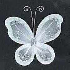 "24 Organza nylon wire butterfly butterflies wedding arts crafts decor 2"" big"