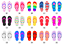 Personalised family print Flip flop print! Personalised Flip Flop Family Print